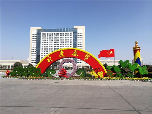 沭阳县县政府绿雕